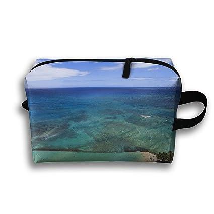ae41945c0240 Amazon.com: Lqzdqa Unisex Tourist Bag Hawaii Toiletry Bag Sundry Bag ...