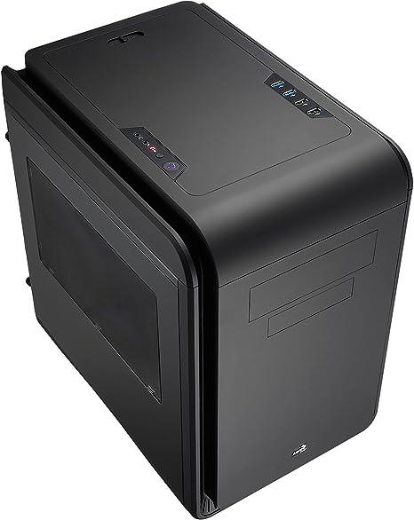 Aerocool DS Cube EN52261 - Caja de ordenador de sobremesa (3 compartimentos internos y 2 frontales, 4 x USB), negro: Amazon.es: Informática