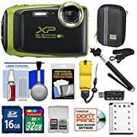 Fujifilm FinePix XP130 Shock & Waterproof Wi-Fi Digital Camera with 32GB Card + Battery + Cases + Float Strap + Selfie Stick + Kit