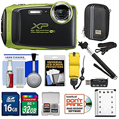 Fujifilm FinePix XP130 Shock & Waterproof Wi-Fi Digital Camera with 32GB Card + Battery + Cases + Float Strap + Selfie Stick + Kit