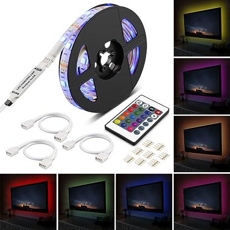 Banda LED USB, 200 cm 5050 RGB Multicolor SMD Kit de cinta de LED,