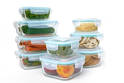 Amazoncom Glass Food Storage Container Set 18 Piece Set 9