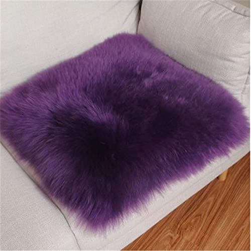 Super Soft Genuine Sheepskin Rug Shag Silky Plush Fur Carpet Natural Fur Area Rugs for Bedroom Bedside Rug Floor Purple,3ftx5ft
