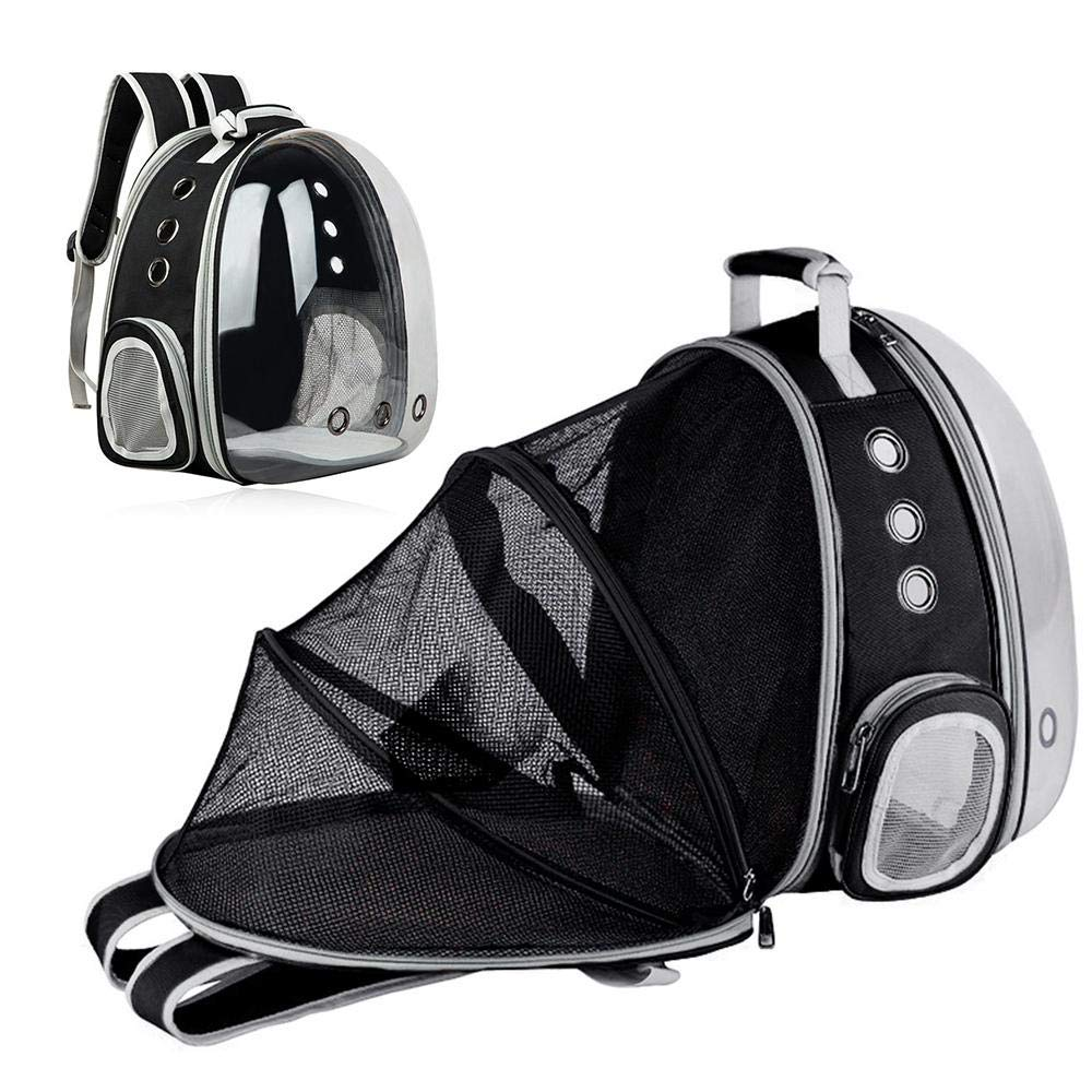 Umiwe Transparent Dog Cat Carrier Backpack Expandable Travel Pet Bubble Bag Breathable Space Capsule Backpack with 9 Venting Hole for Travel Hiking Walking Outdoor