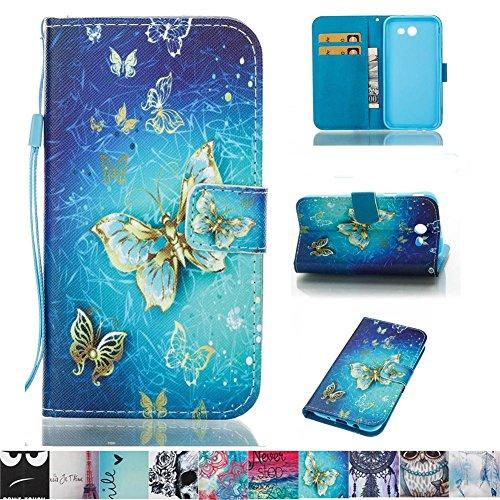 J3 Emerge Case, J3 2017 Case, Galaxy J3 Prime Case, Firefish [Kickstand] PU Leather Wallet Case Cash Holder Magnetic Closure Cover Skin for Samsung Galaxy J3 Prime/J3 2017/J3 Emerge -Butterfly