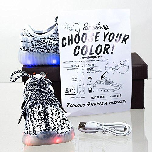 Voor Altijd Link Unisex Neon Elektrisch Licht Kleur Geleid Rave Edm Sneaker Festival Carnaval Houtskool