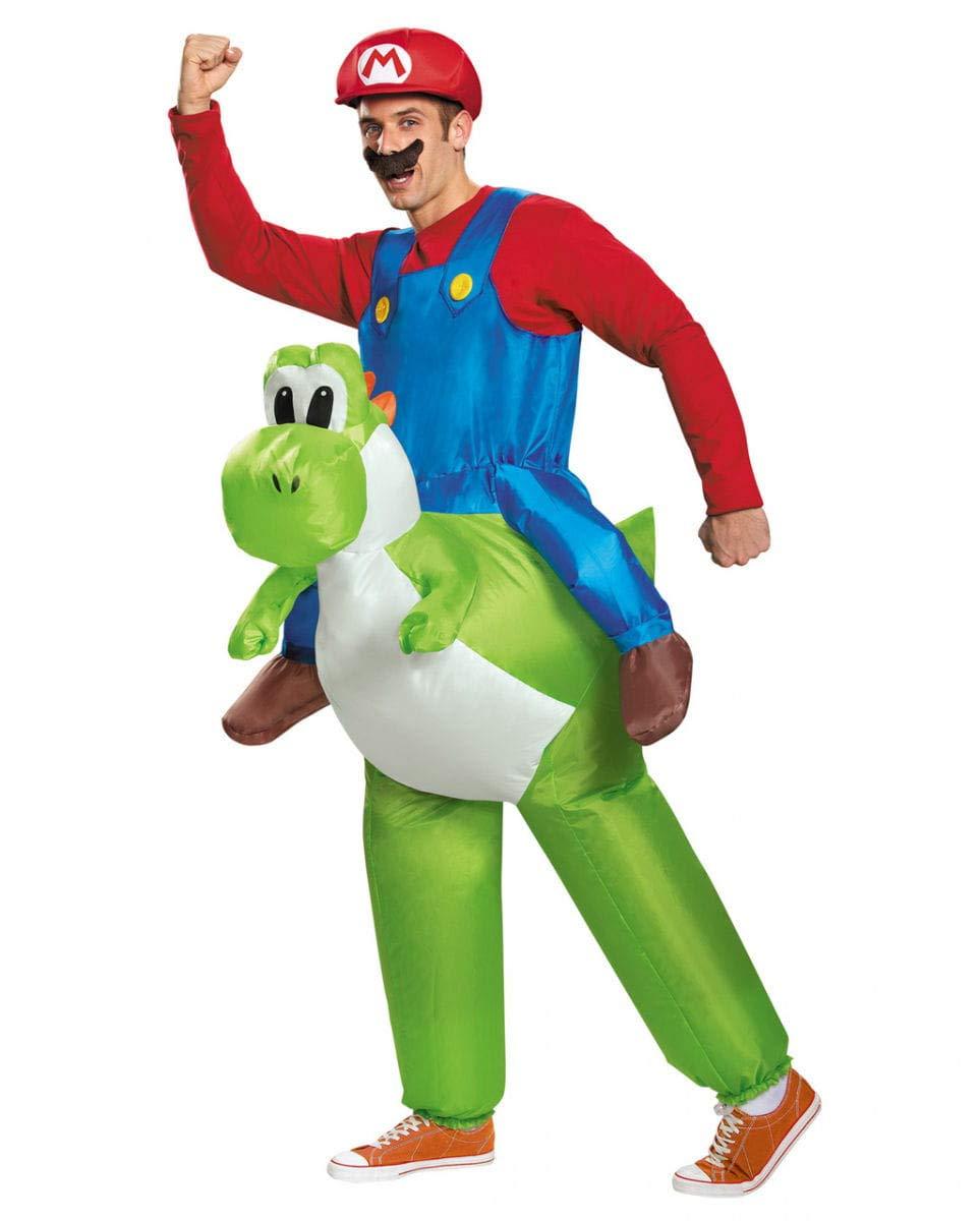 Horror-Shop Super Mario Monta el Disfraz de Yoshi
