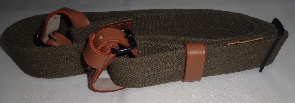 warreplica Seconde Guerre Mondiale Mosin-Nagant Rifle rondelle avec Collier en Cuir Pur Reproduction