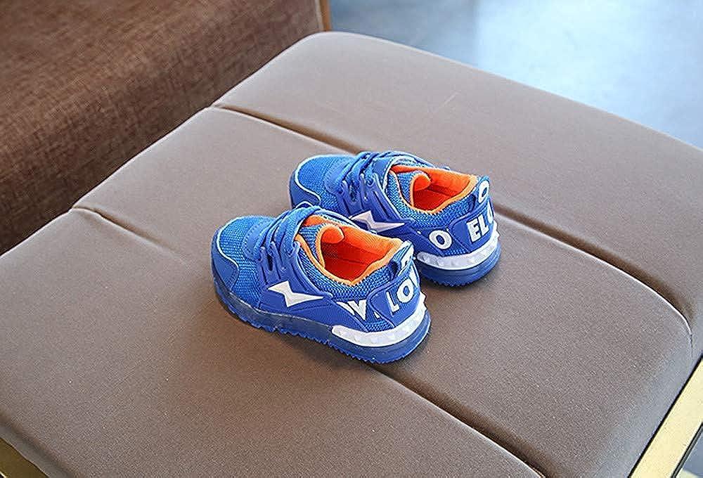 LYLIFE Toddler Baby Girs Boys LED Luminous Outdoor Infant Children Anti-Slip Shoes