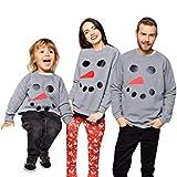 1PC Family Pajamas Matching Sets Xmas Snowman Print