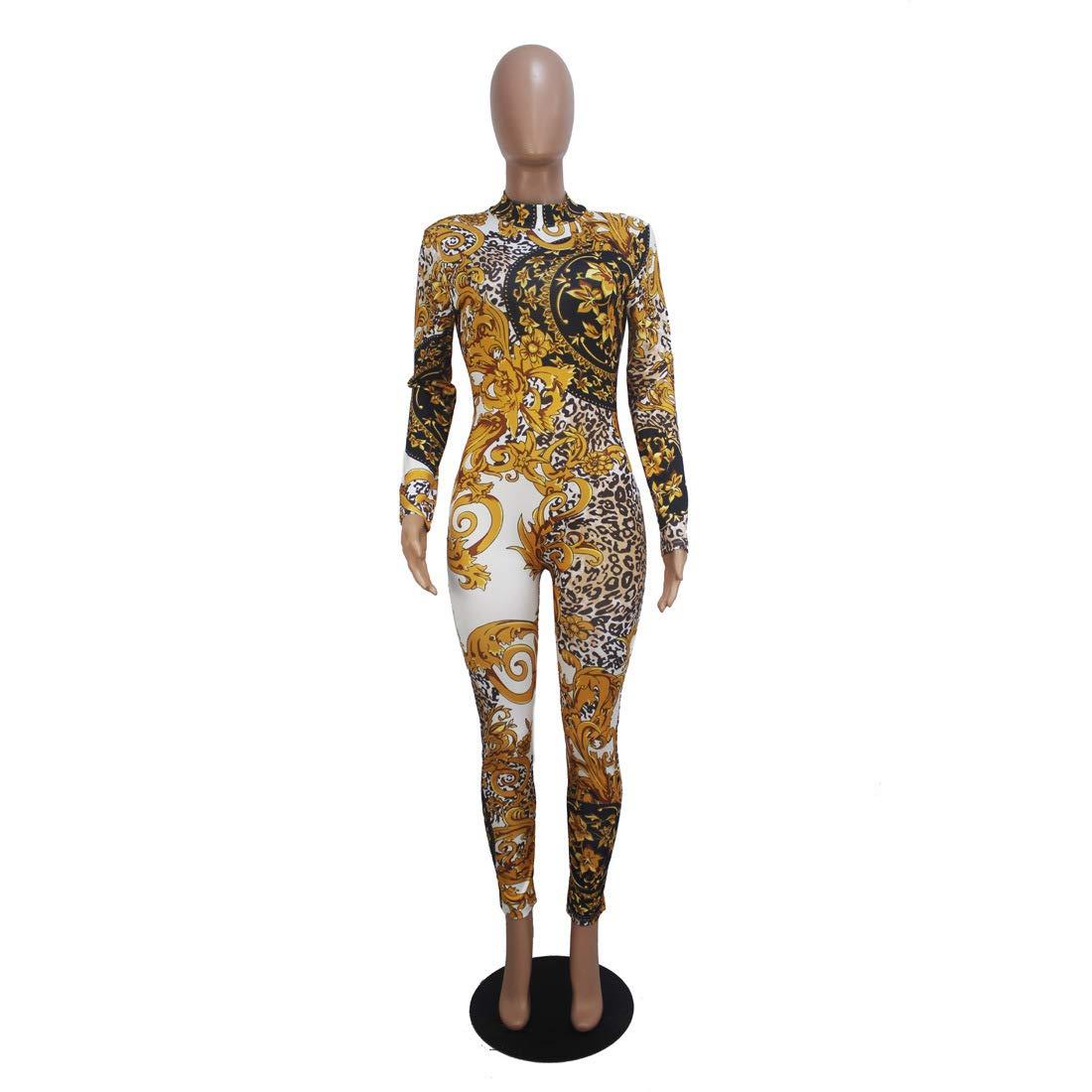 Women Club Jumpsuit Leopard Printed Party Romper