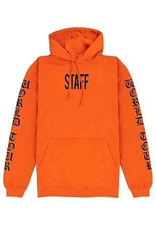9cc3147cad3 Magic Custom Purpose Tour - Sweat Capuche Orange Staff Justin Bieber   Amazon.fr  Vêtements et accessoires