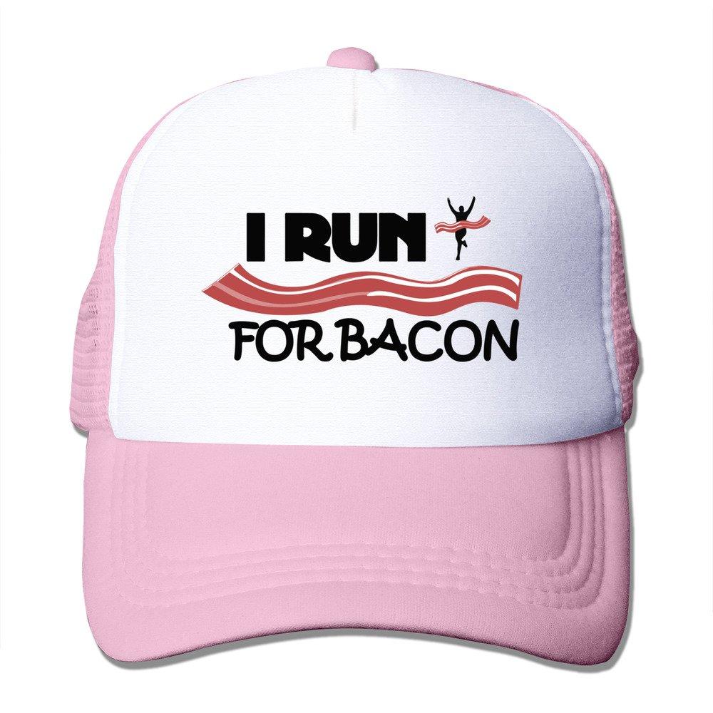 long5zg Unisex ajustable I Run para Bacon Funny Running gorra ...
