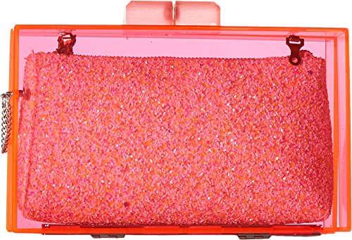 Circus by Sam Edelman Women's Keller Evening Clutch Pink/White Glitter One Size