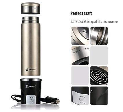 Taza De Calentador De Agua Para Coche Taza De Agua Eléctrica Inteligente 12V Calentador De Agua