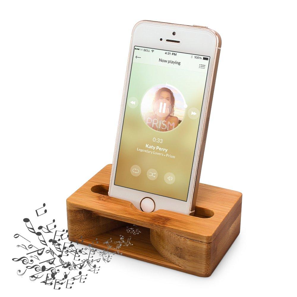 木製スピーカー ARCHEER iPhoneスタンド