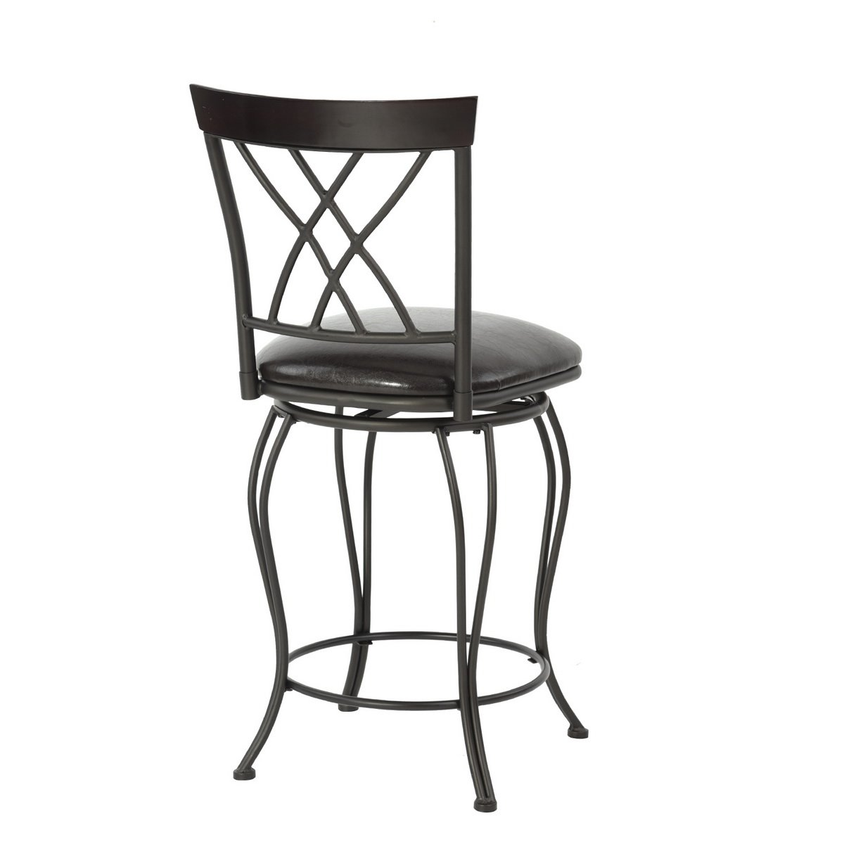 FurnitureR 24'' Circles-Back Swivel Bar stool Counter Height Bar Chair by FurnitureR (Image #5)