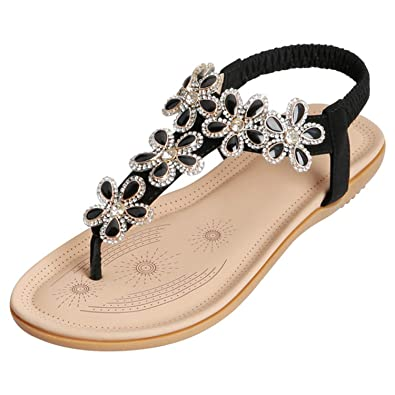 b560cd20f419 Amazon.com  SANMIO Women Summer Flat Sandals Shoes