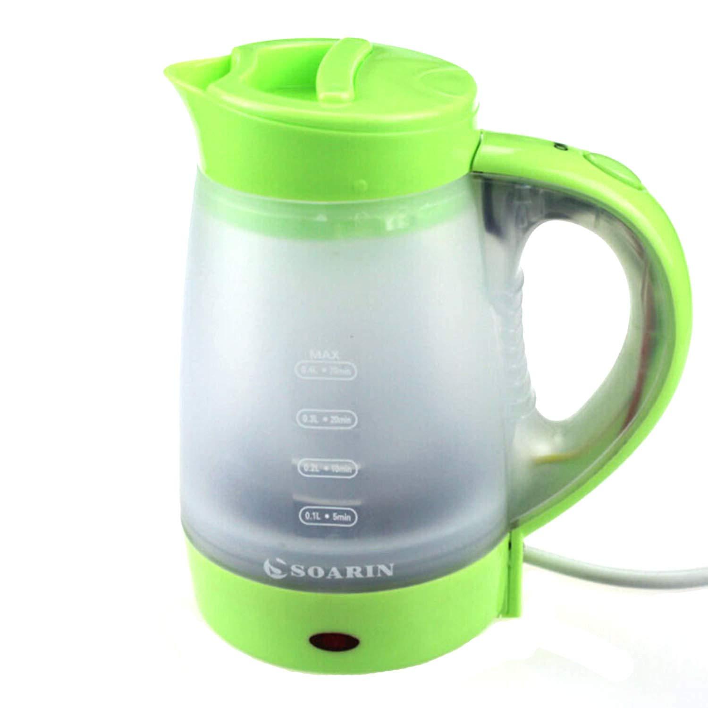 Tee- & Kaffeekannen 0,4 L Mini Portable Kunststoff-Elektro-Wasserkocher Für Zu Hause Reisen,Black