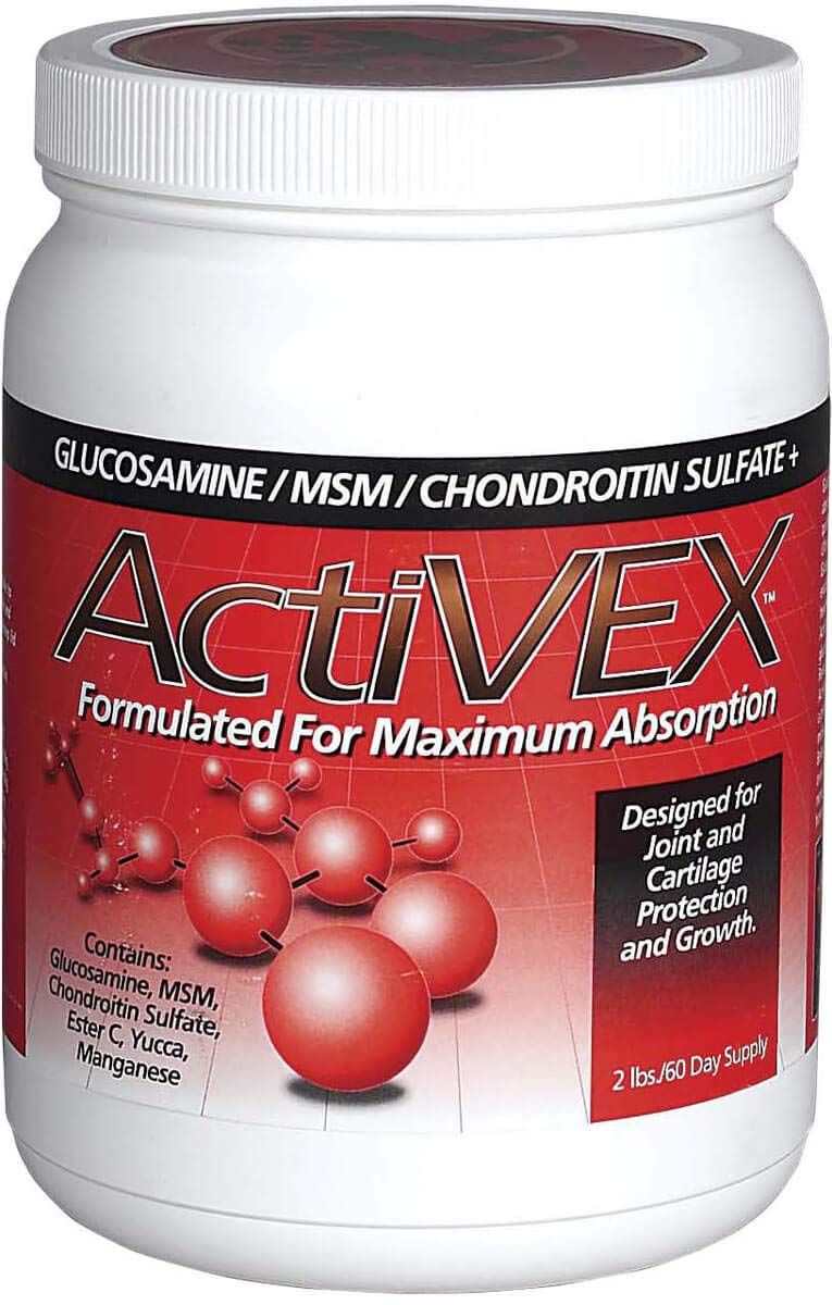 ActiVEX 2 lb Formulated for Maximum Absorption Horse Supplement with Glucosamine, MSM Powder, and Chondroitin Sulfate by ActiVEX