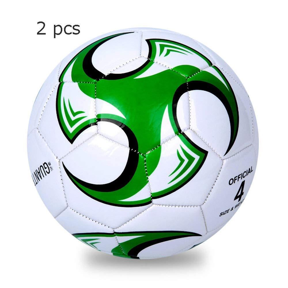 Jajx-os Kids Toys Soccer 2 Pcs Girls Boys Soccer Ball for Children Football Composite Soccer Ball Sizes 3, 4, 5 in Multiple Colors (Color : C2, Size : 5) by Jajx-os