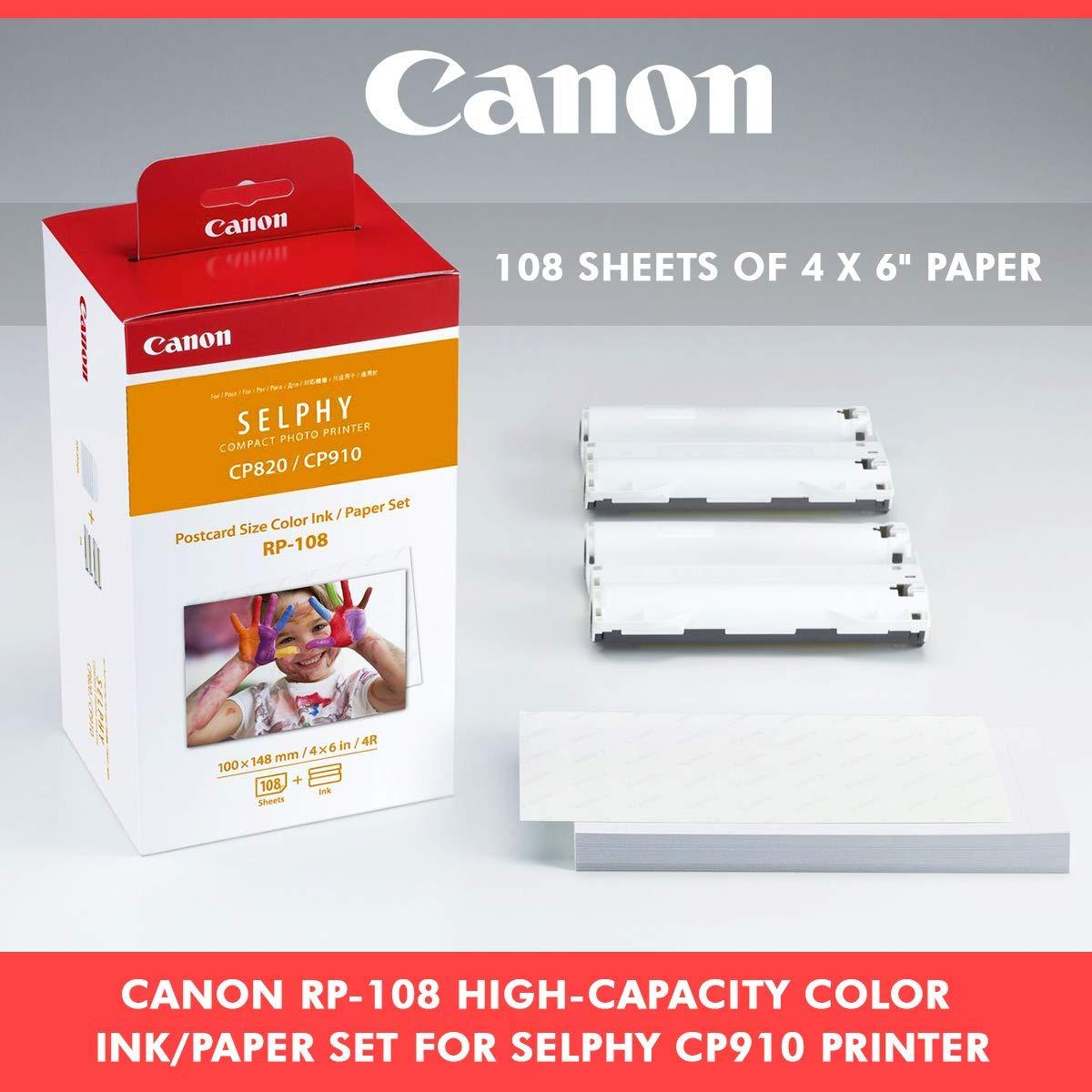 Amazon.com: Canon RP-108 - Juego de tinta/papel para ...