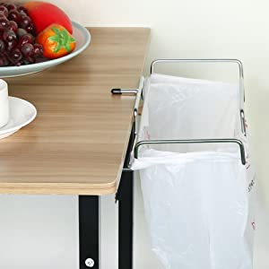 Trash Bag Rack-Trash Can Bracket Dustbin Cage Garbage Plastic Bag Holder Table Rack Outdoor Indoor Travel Use-1 PCS