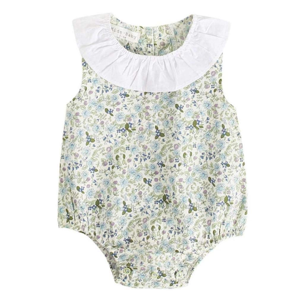 Enrique Herndon Infant Baby Boy Girls Floral Print Rompers Outfits