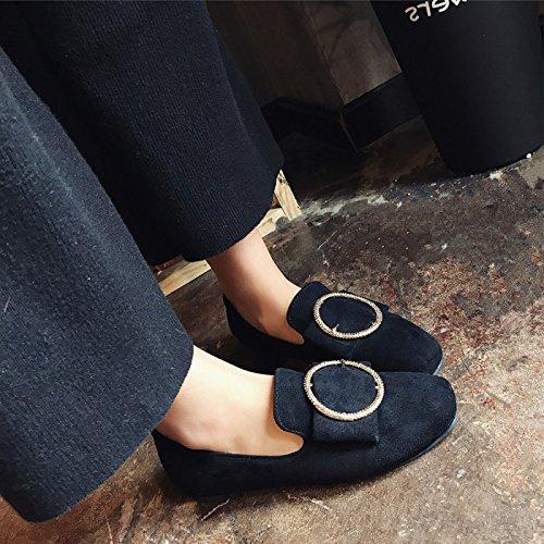 GAOLIM Primavera De Fondo Plano Solo Zapatos Zapatos Zapatos De Mujer Puso Pie Lazy Bones Zapatos Zapatos De Taladro De Agua Bajo Los Zapatos Zapatos De Mujer Un