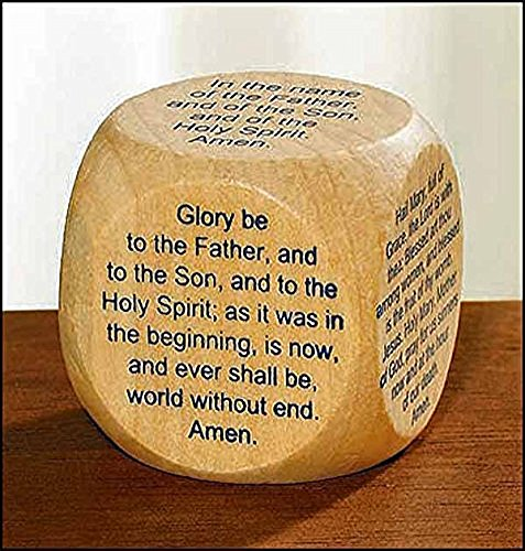 Gift Cube (My Favorite Prayers Wooden Wood Prayer Cube for New Catholic Adults or Children)