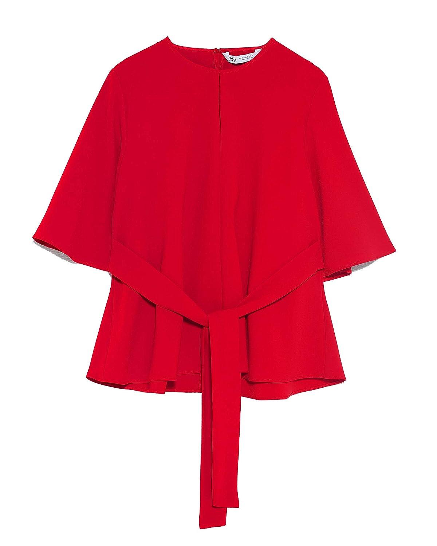 Zara 4043/061 - Camiseta de Tirantes para Mujer - Rojo - Small ...