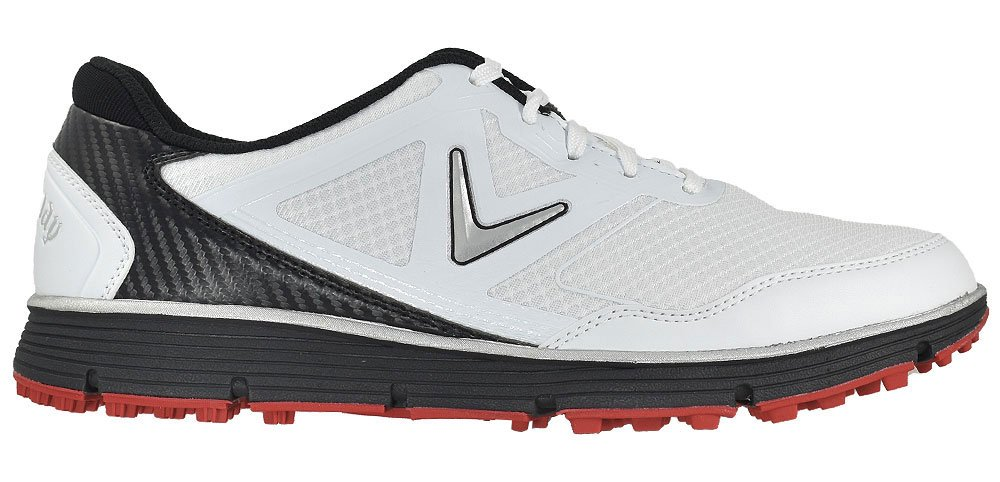 Callaway Men's Balboa Vent Golf Shoe, White/Black, 8.5 D US