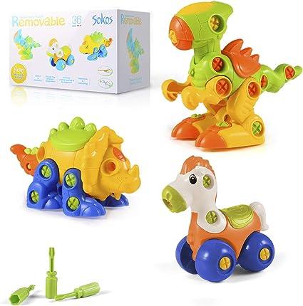 Amazon.com: MIGO - Juego de juguetes de dinosaurio para ...