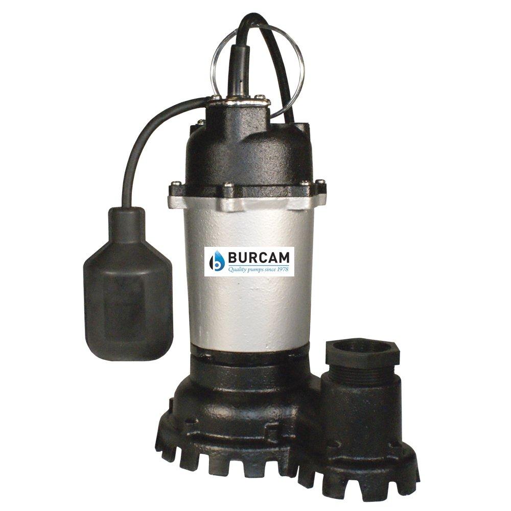 Bur-Cam 300728 1/2 Horsepower Pro Series Submersible Sump Pump Mechanical Float Switch, 115 Volts, Black