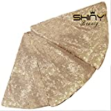 ShinyBeauty 48-Inch Embroidery Sequin Christmas Tree Skirt, Champagne