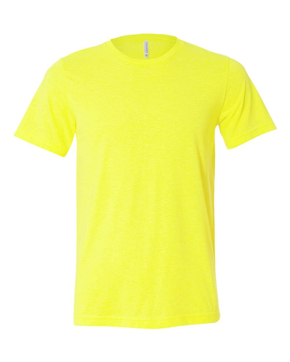 Neon Yellow Bella+Canvas Classic Ringspun Short Sleeve T-Shirt Large