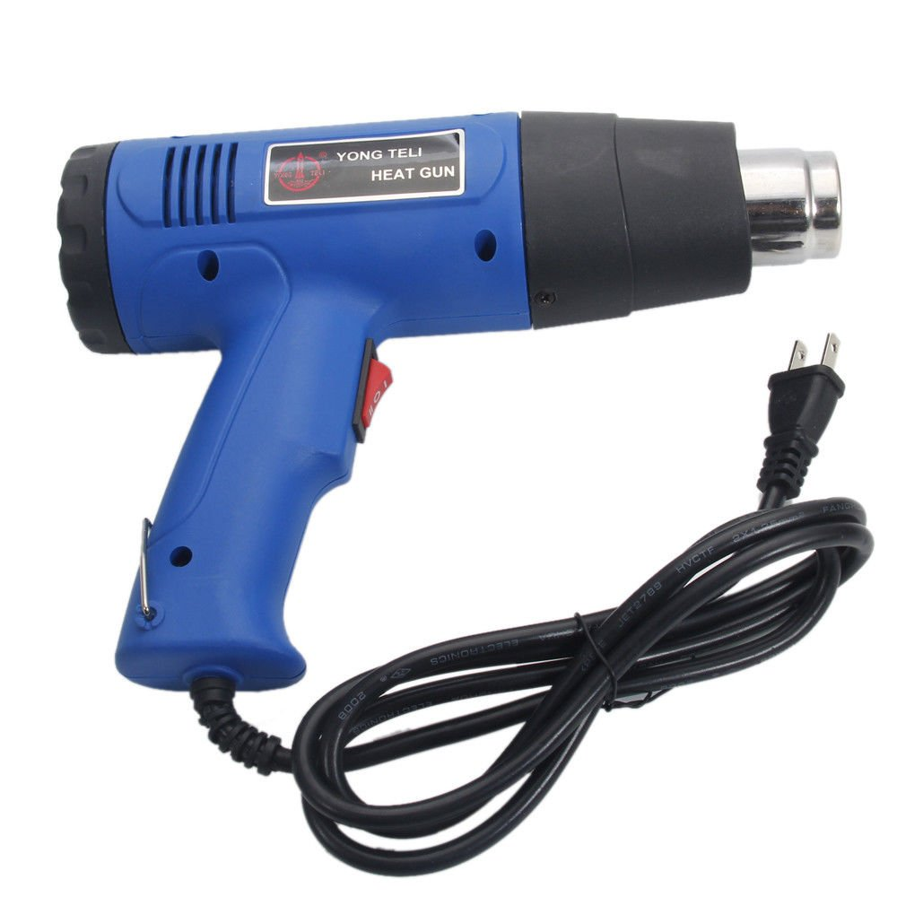 1500 Watts Electric Heat Gun Hot Air Wind Blower Power Heater Dual Temperature w/ 4 Nozzles | Heavy Duty for Shrink Wrap Vinyl Craft Cell Phone Repair Paint Remover Drying Shrink Tubing BBQ Lighting by Cirocco (Image #2)