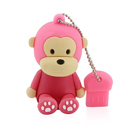 64gb usb 20 flash drive novelty cute animal sitting monkey shape pen drive thumb drive memory