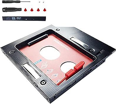 glotrends Universal 12.7mm Aluminio SATA a SATA Segundo Disco Duro ...