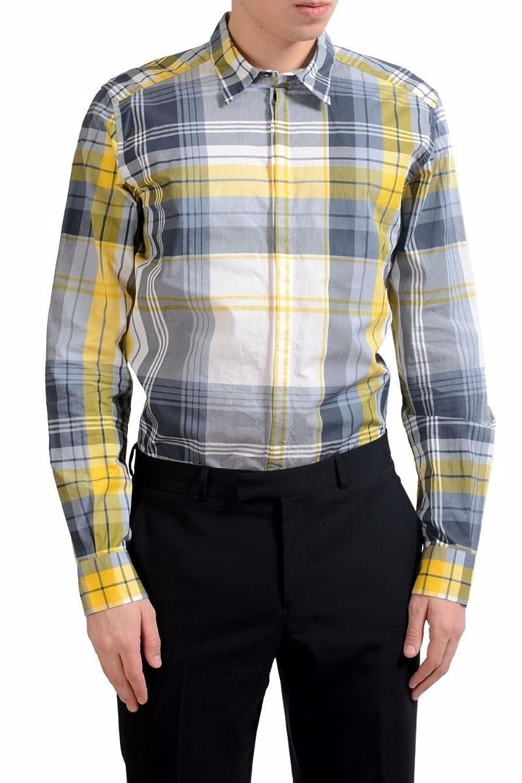 Dolce & Gabbana メンズ ゴールドドレスシャツのサイズ B07B4GHXD5  マルチカラー US 17 IT 43