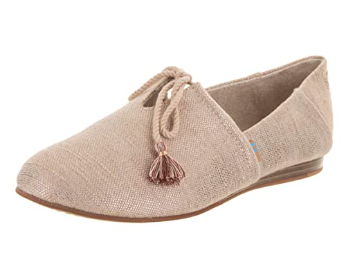 cd3383858159 TOMS Women s Kelli Rose Gold Metallic Woven Slip-On Shoe 6.5 Women US