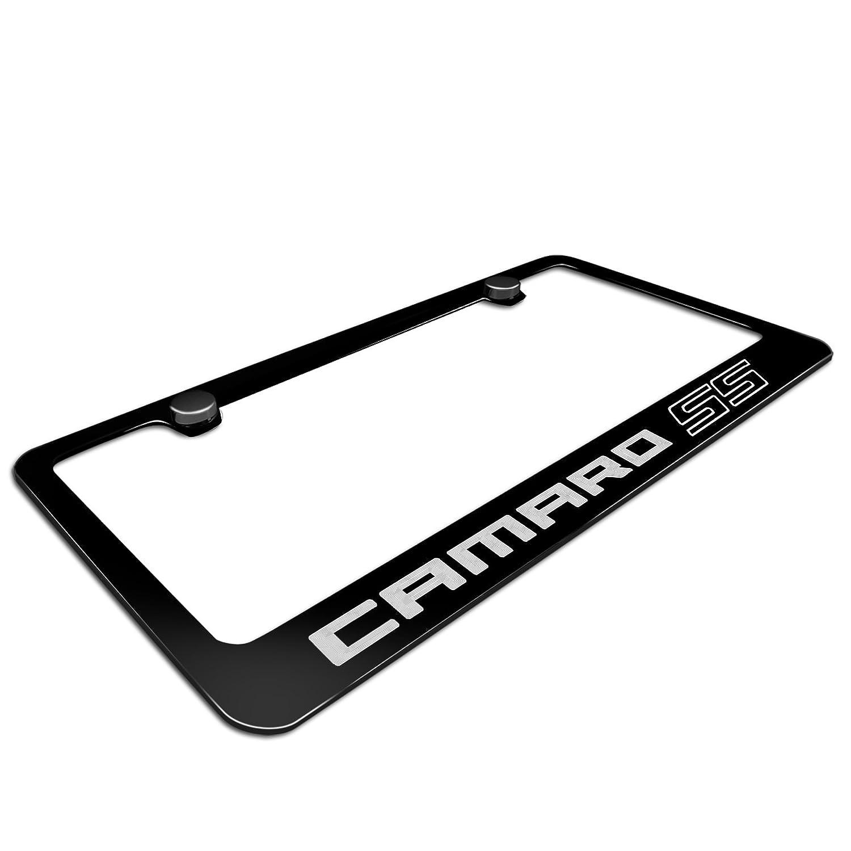 Chevrolet Camaro SS Schwarz Metall Nummernschild Rahmen: Amazon.de: Auto