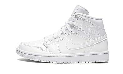 size 40 b80cb b96fe Amazon.com | Jordan WMNS Air 1 Mid (White/White-White, 7W ...