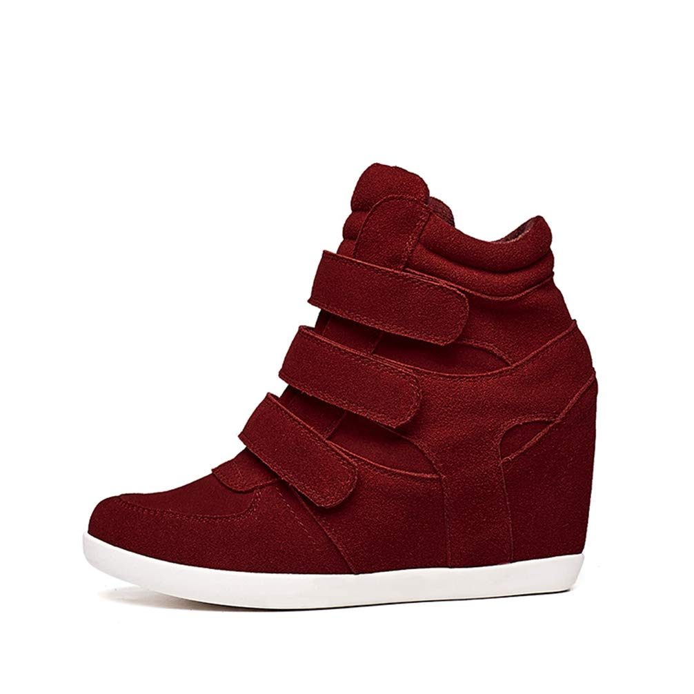 T-JULY Spring Wedges Sneakers Women Fashion High-top Platform High Heels Casual Shoes