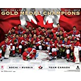 Frameworth Team Canada Plaque 16x20 Mens 2014 Gold Medal Celebration, Black