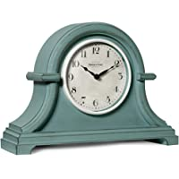 PresenTime & Co Vintage Farmhouse Table Clock Series Napoleon Mantel Clock,13 x 10 inch, Domed Lens, Quartz Movement…