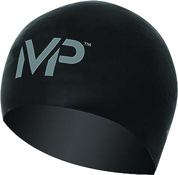 MP Michael Phelps Race Gorro de natación, Unisex, Negro/Plata ...