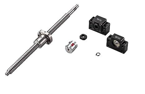 TEN-HIGH Piezas CNC husillo de bolas SFU 2505 RM 2505 25 mm 200 mm ...