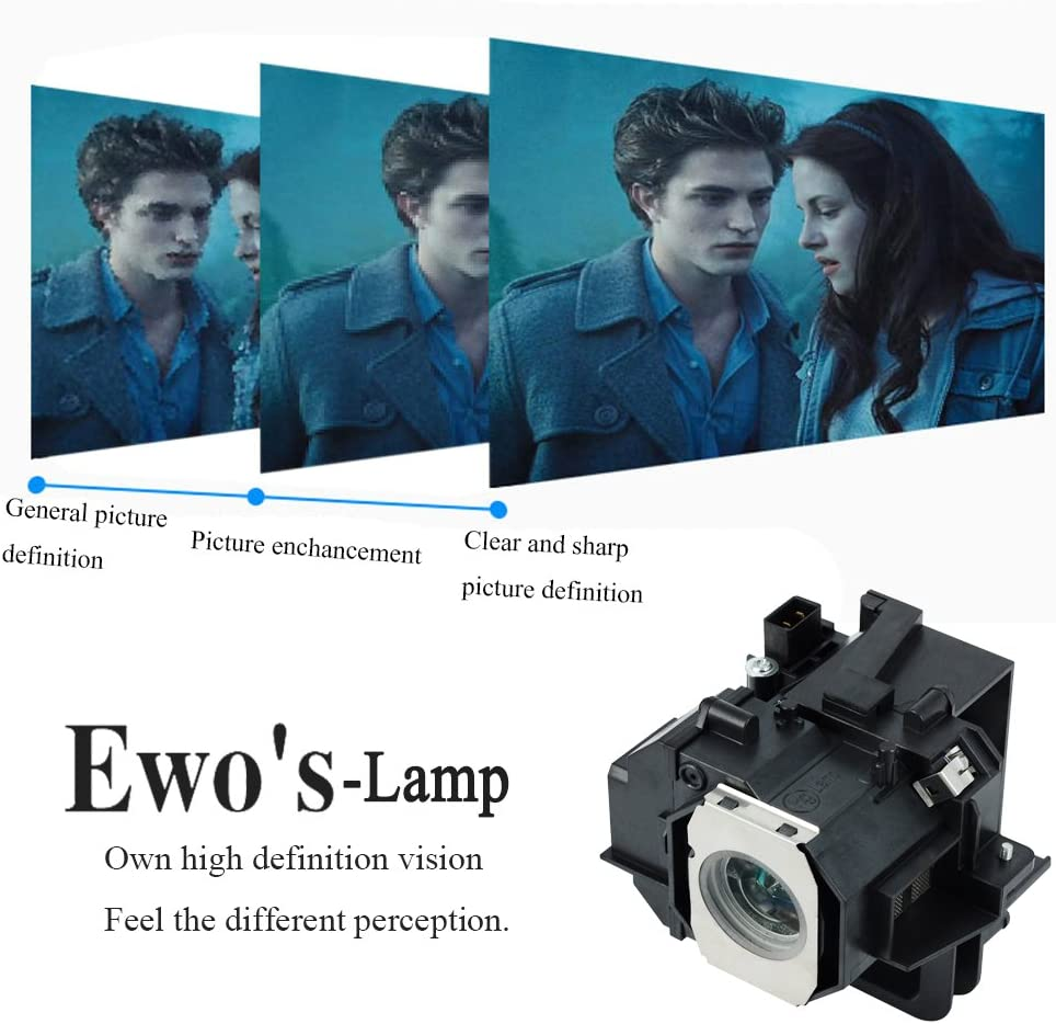EWOS ELP49 Replacement Lamp Bulb for Epson PowerLite Home Cinema 8350 8345 8500UB 8700UB 8100 6100 6500UB 7100 7500UB V13h010l49//Elplp49 Replacement Projector Lamp with Housing