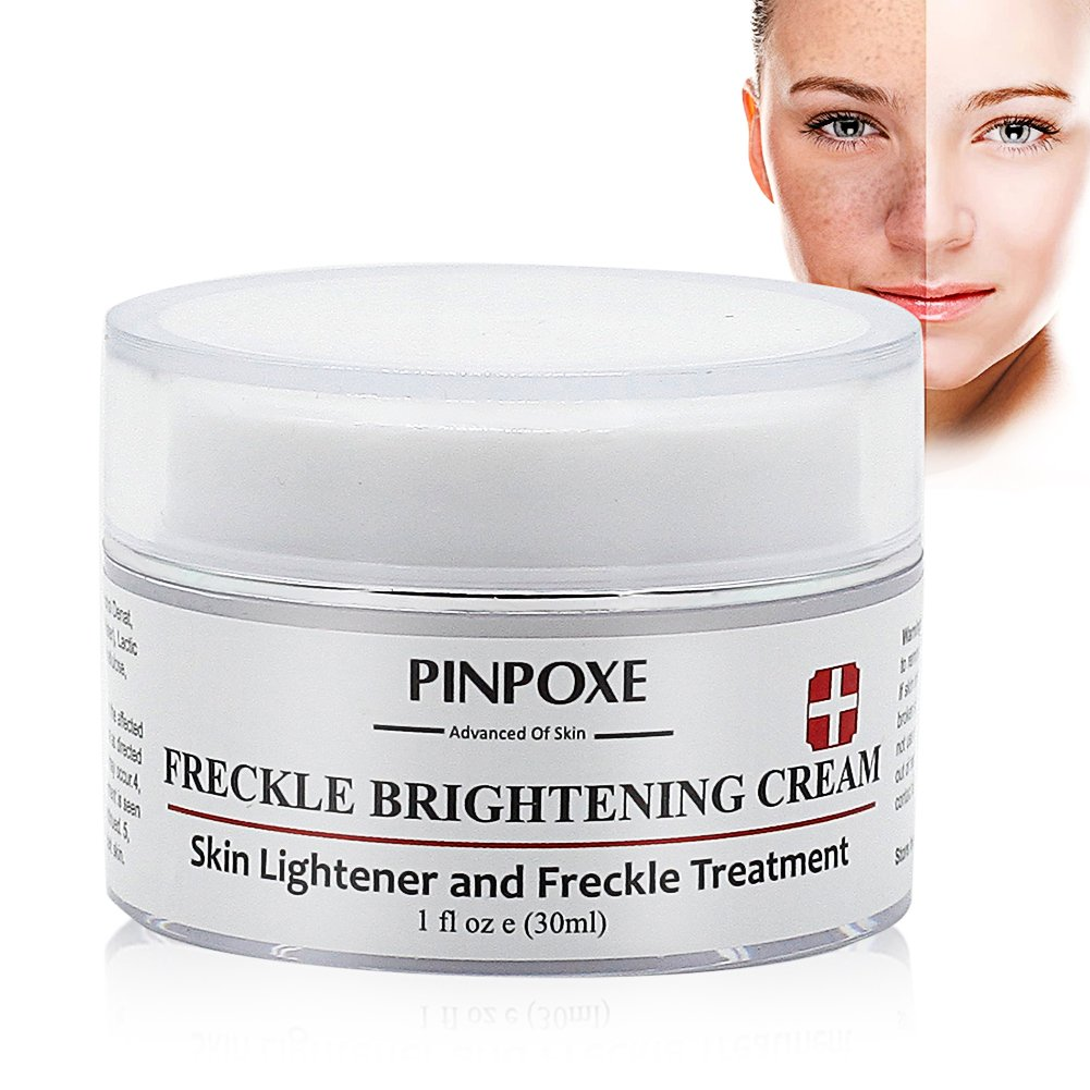 Skin Brightening Cream, Freckle cream, Dark Spot Corrector Remover, Removes Hyperpigmentation Reduces Melasma Lightens